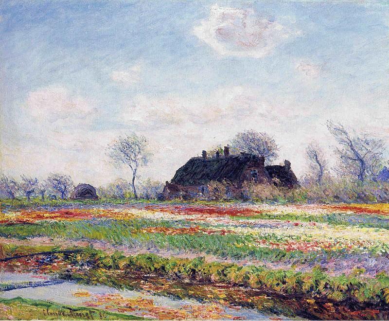 Tulip Fields at Sassenheim, Near Leiden. Claude Oscar Monet