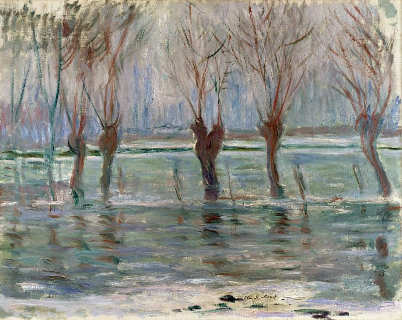 Flood Waters. Claude Oscar Monet