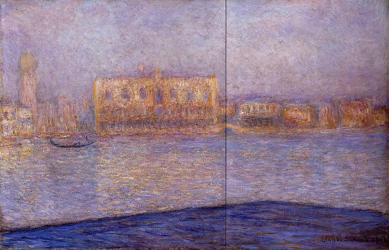 The Doges' Palace Seen from San Giorgio Maggiore 3. Claude Oscar Monet