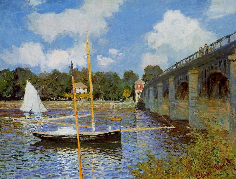 The Bridge at Argenteuil. Клод Оскар Моне