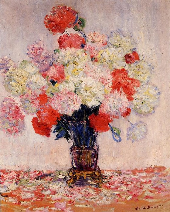 Vase of Peonies. Claude Oscar Monet