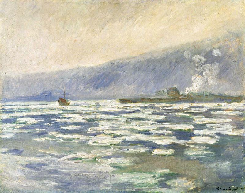 Les glacons, ecluse de Port-Villez. Claude Oscar Monet