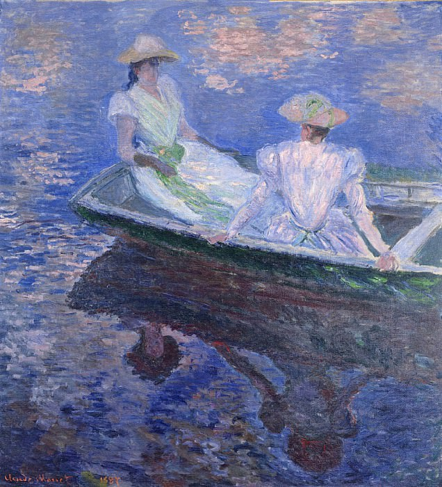 Young Girls in a Row Boat. Claude Oscar Monet
