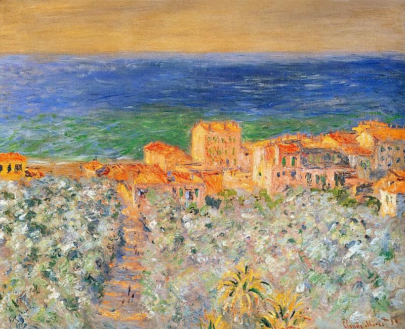 Burgo Marina at Bordighera. Claude Oscar Monet