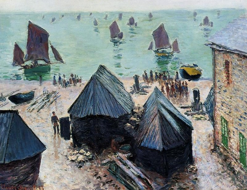 The Departure of the Boats, Etretat. Claude Oscar Monet