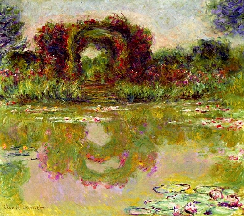Rose Arches at Giverny. Claude Oscar Monet