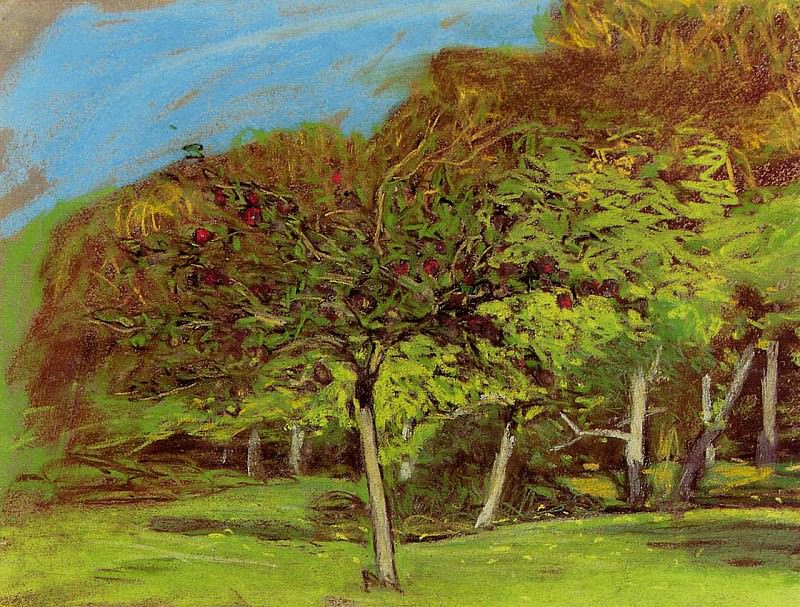 Fruit Trees. Claude Oscar Monet