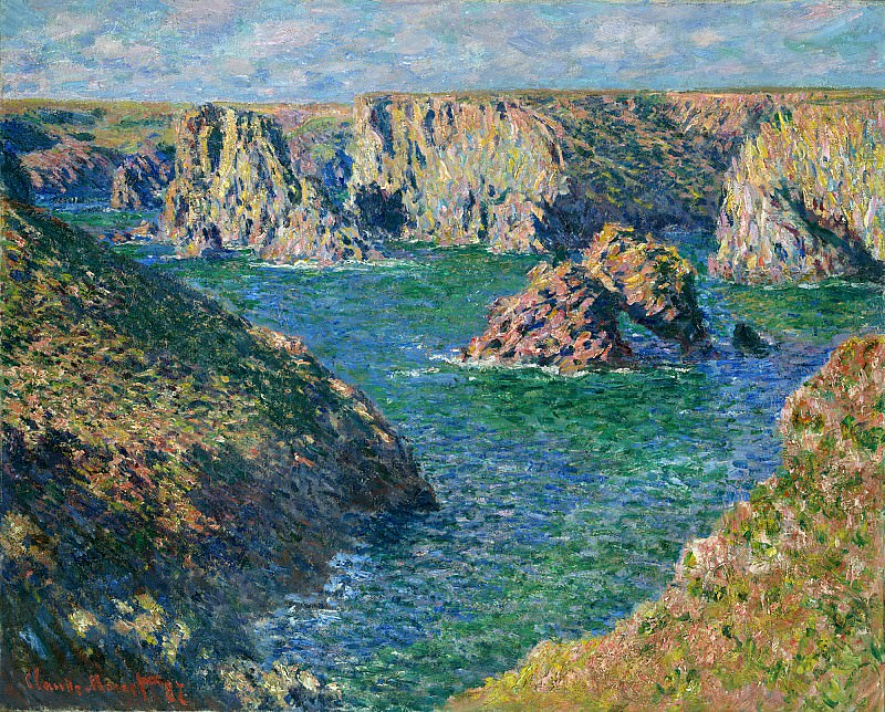 Port Donnant, Belle Ile. Claude Oscar Monet