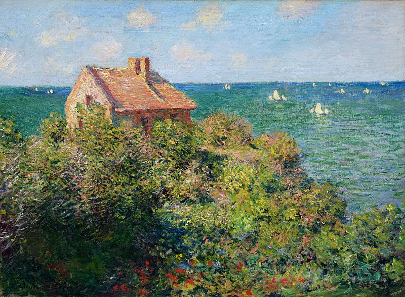 Fisherman's Cottage at Varengeville. Claude Oscar Monet