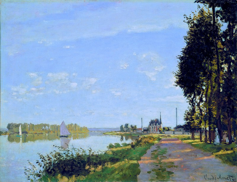 The Promenade at Argenteuil. Claude Oscar Monet