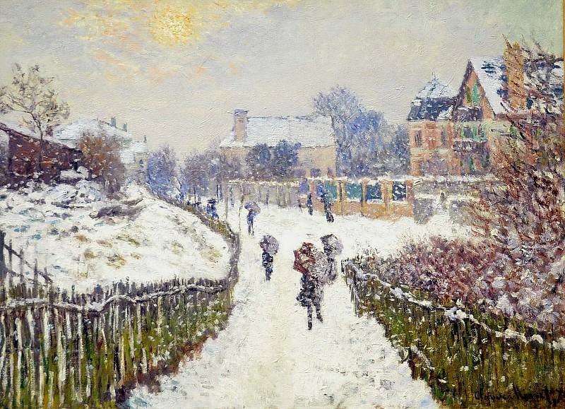 Boulevard St. Denis, Argenteuil, Snow Effect. Claude Oscar Monet