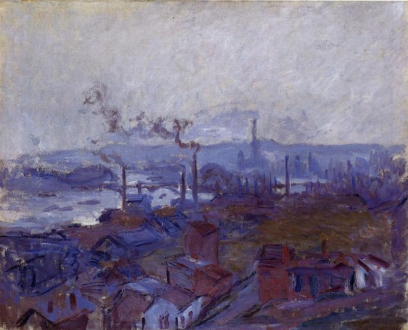 View of Rouen from the Cote Sainte Catherine. Claude Oscar Monet