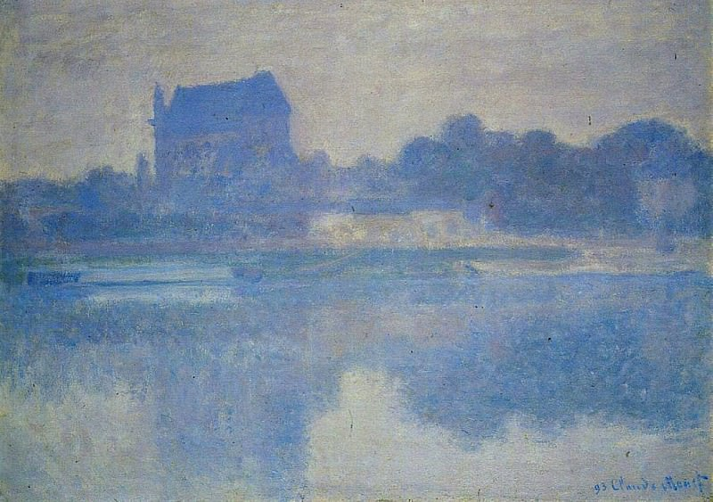 The Church of Vernon in the Mist. Claude Oscar Monet