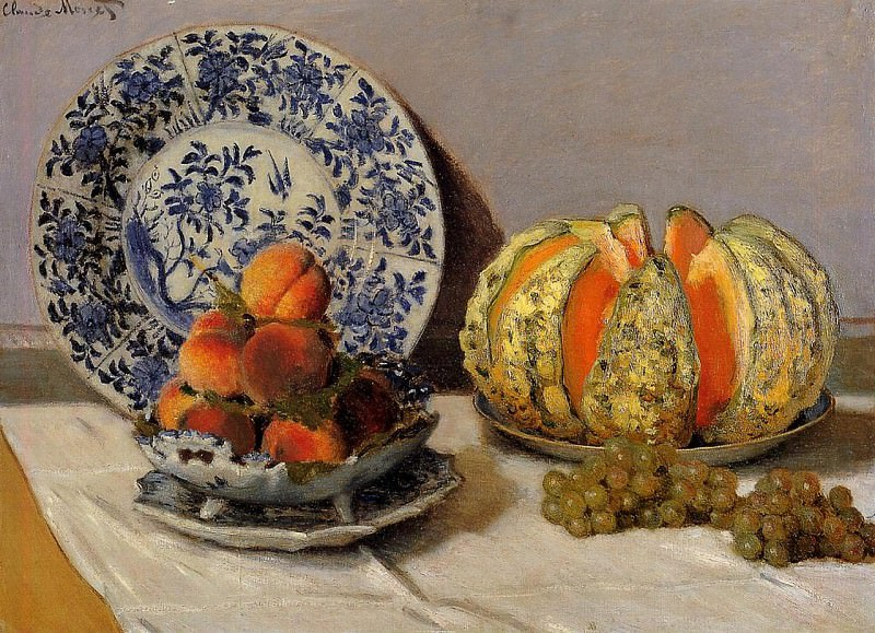 Still Life with Melon. Claude Oscar Monet