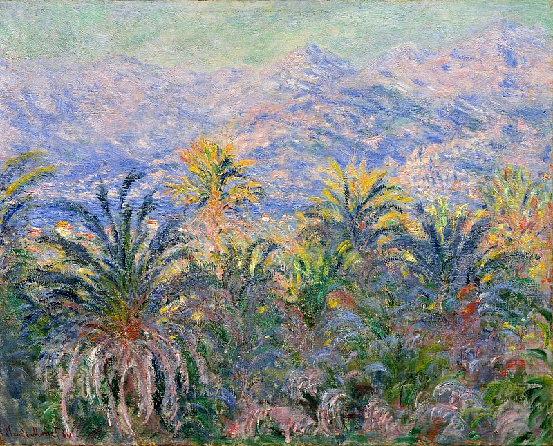 Palm Trees at Bordighera. Claude Oscar Monet