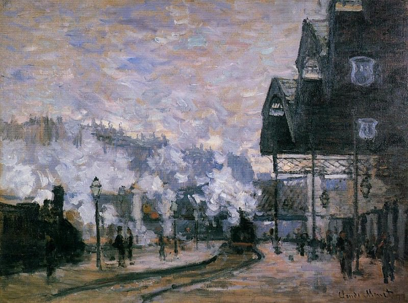 Saint-Lazare Station, the Western Region Goods Sheds. Claude Oscar Monet