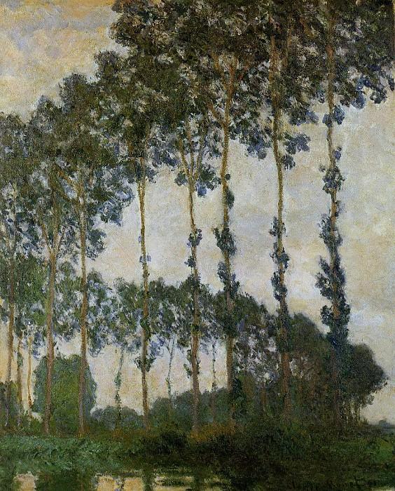 Poplars near Giverny. Claude Oscar Monet