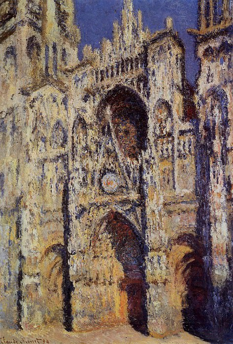 Rouen Cathedral, the Portal and the Tour d'Albane, Full Sunlight. Claude Oscar Monet