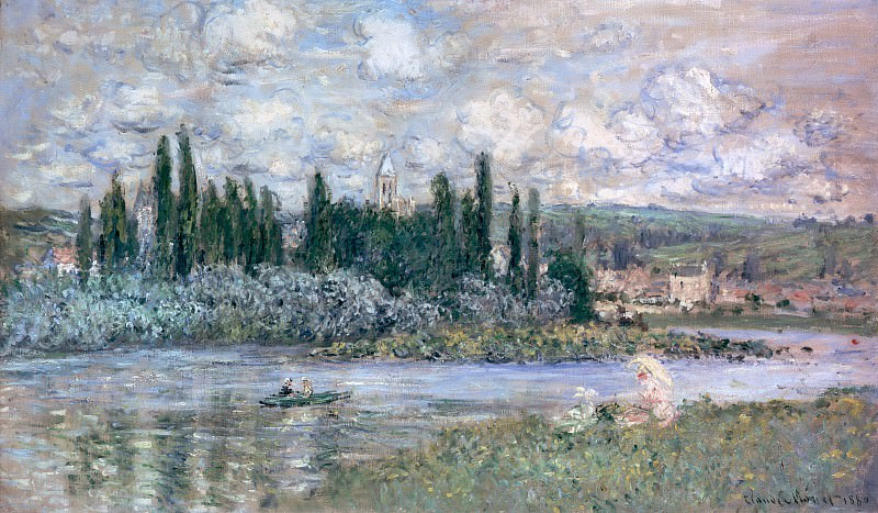 Vetheuil on the Seine. Claude Oscar Monet
