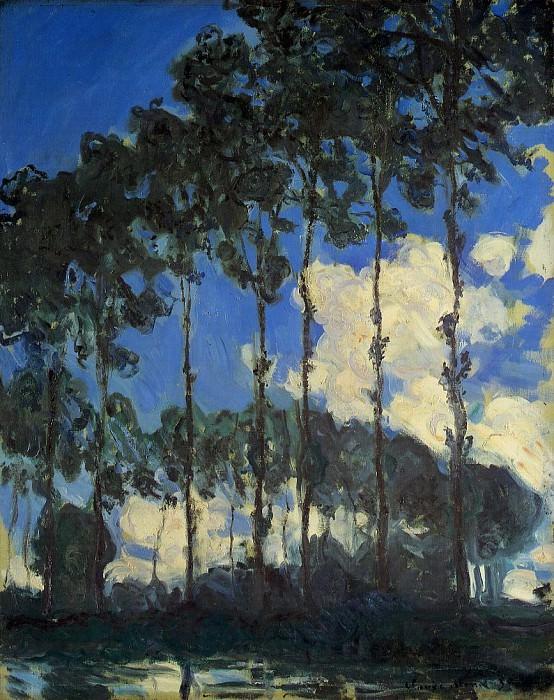 Poplars on the Banks of the Epte. Claude Oscar Monet