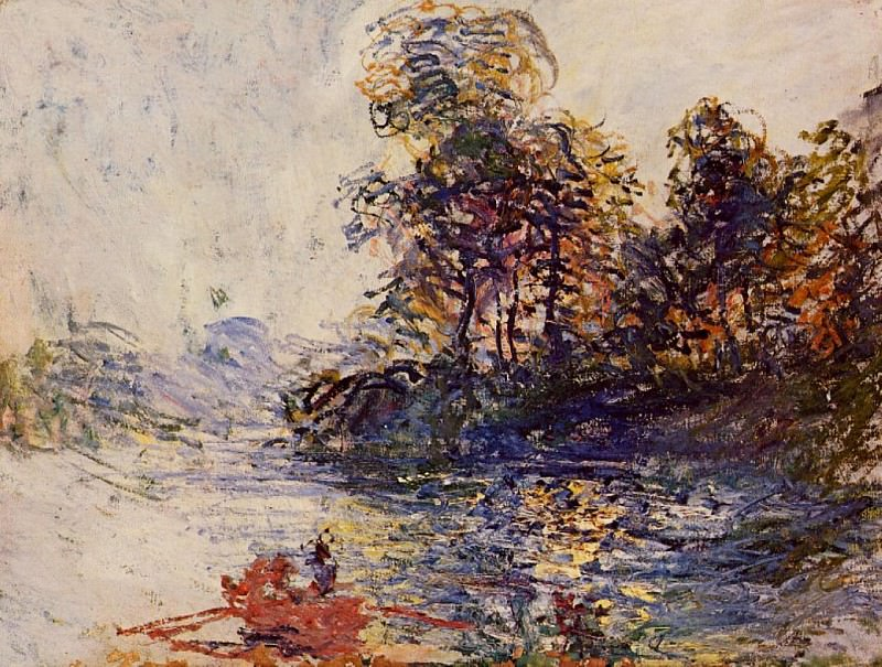 The River. Claude Oscar Monet