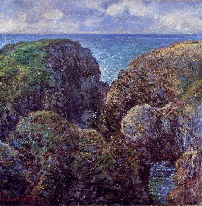 Group of Rocks at Port-Goulphar. Claude Oscar Monet