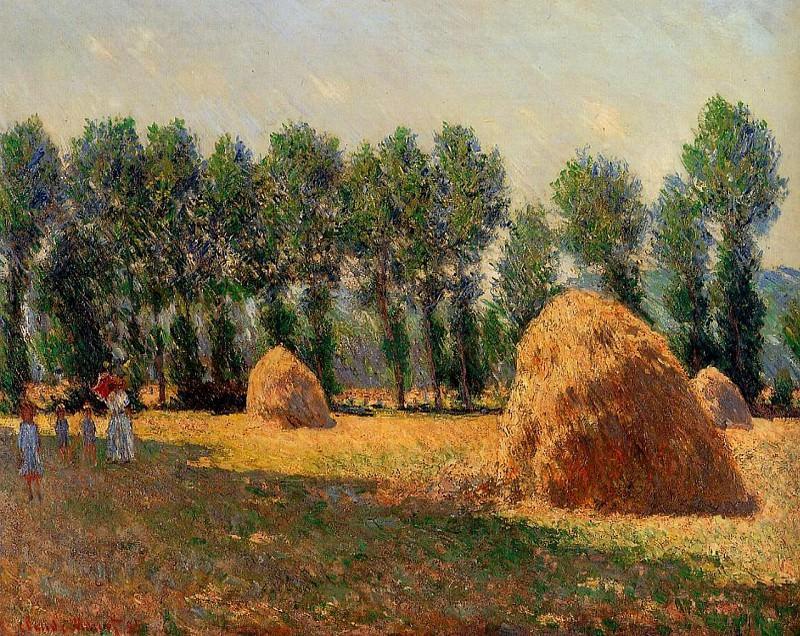 Haystacks at Giverny. Claude Oscar Monet
