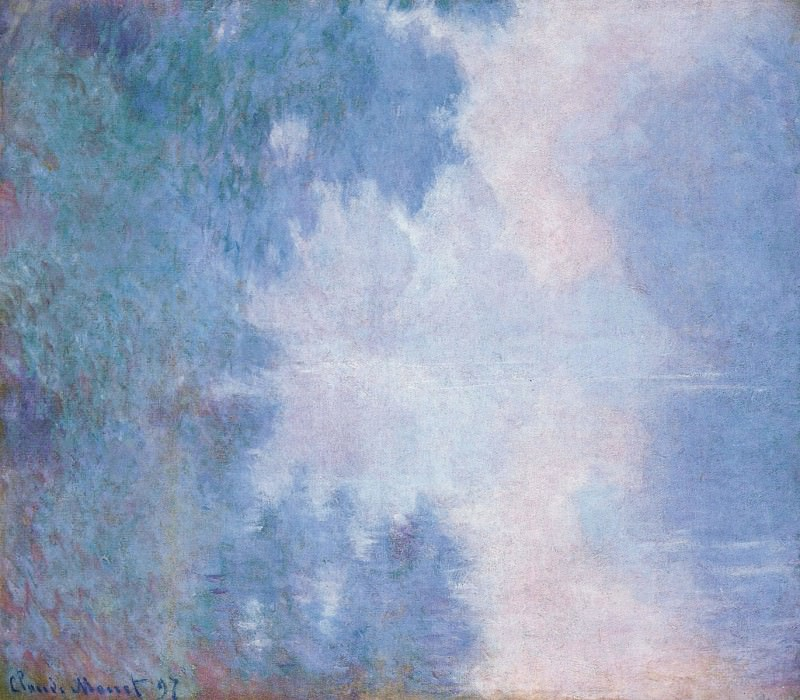 Morning on the Seine, Mist. Claude Oscar Monet