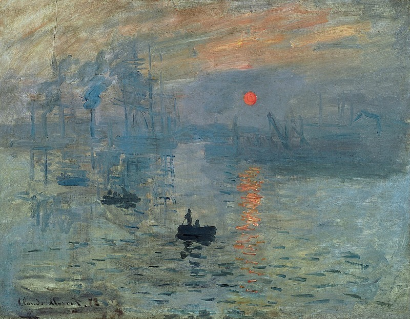 Impression, Sunrise, 1873 2. Claude Oscar Monet