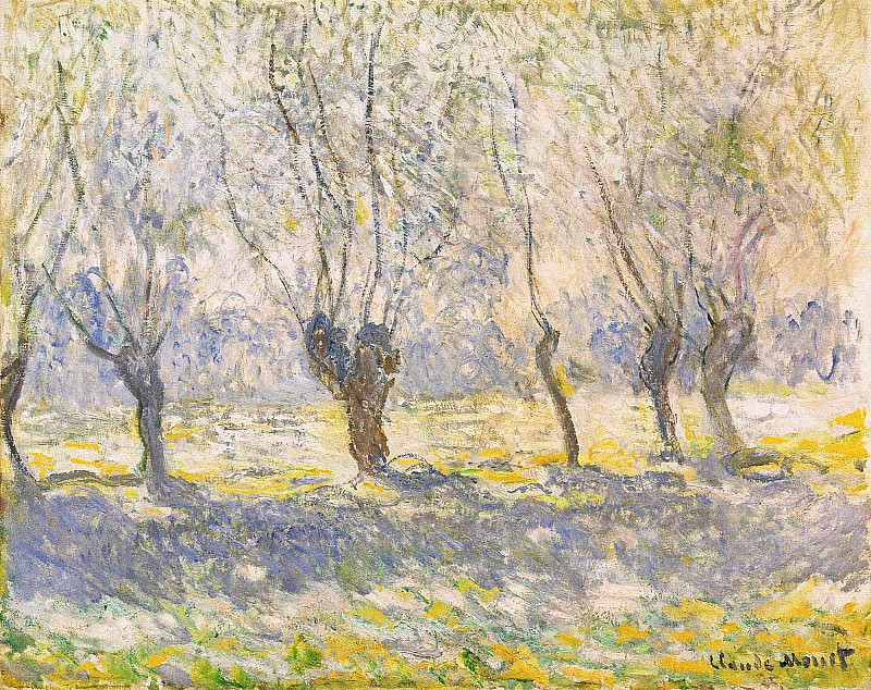 Willows, Giverny. Claude Oscar Monet