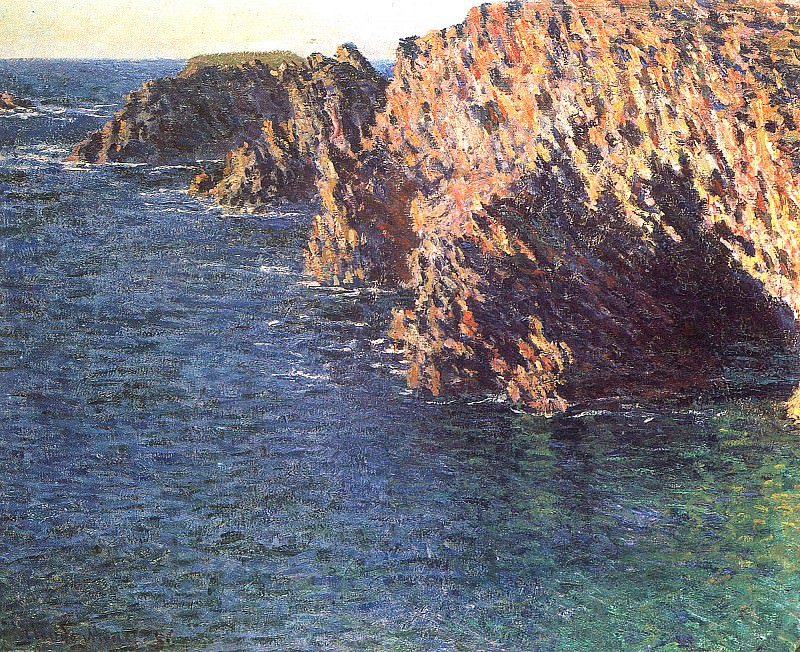 The Grotto of Port-Domois. Claude Oscar Monet