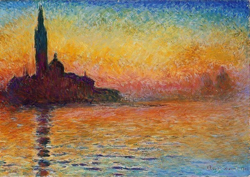 San Giorgio Maggiore at Dusk. Claude Oscar Monet