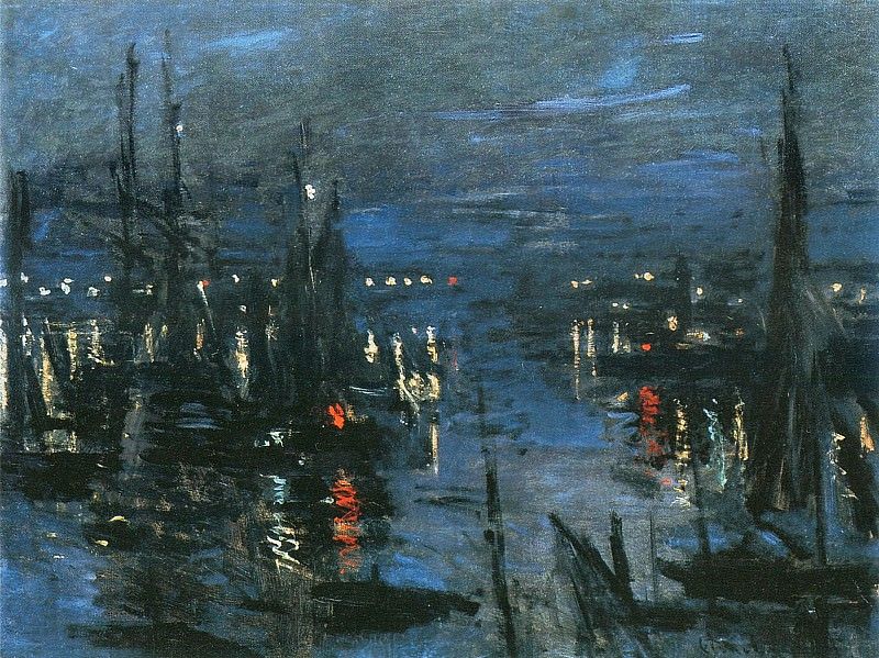 The Port of Le Havre, Night Effect. Claude Oscar Monet