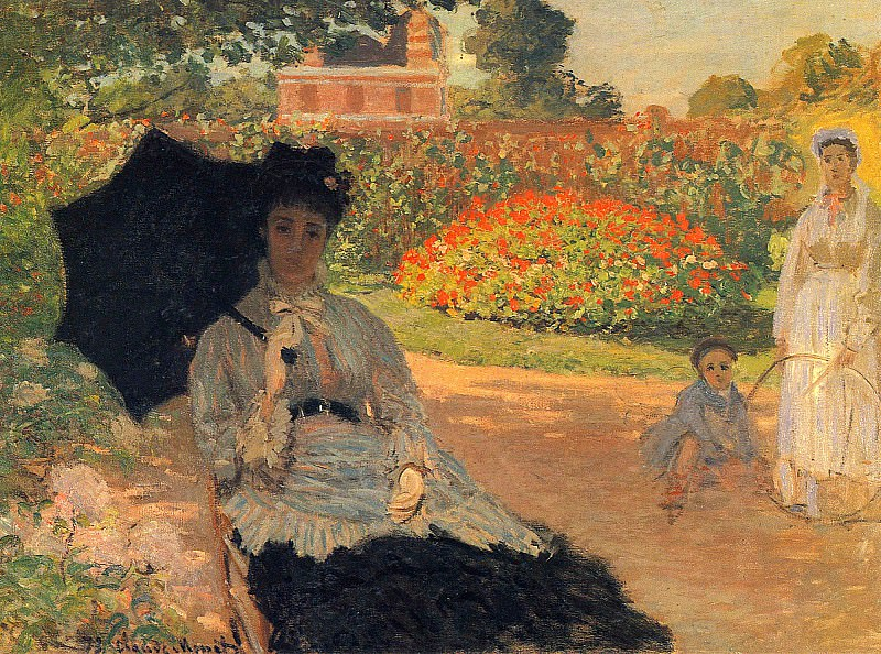 Camille Monet in the Garden. Claude Oscar Monet