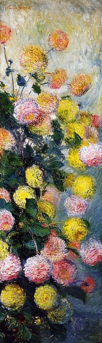 Dahlias 2. Claude Oscar Monet