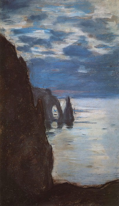 Etretat, the Needle Rock and Porte d'Aval. Claude Oscar Monet