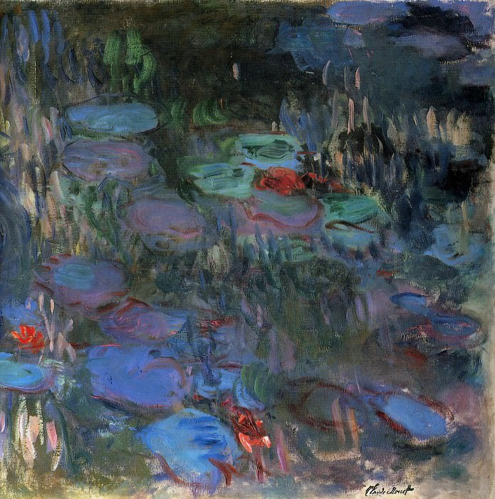 Water Lilies, Reflections of Weeping Willows (right half). Claude Oscar Monet