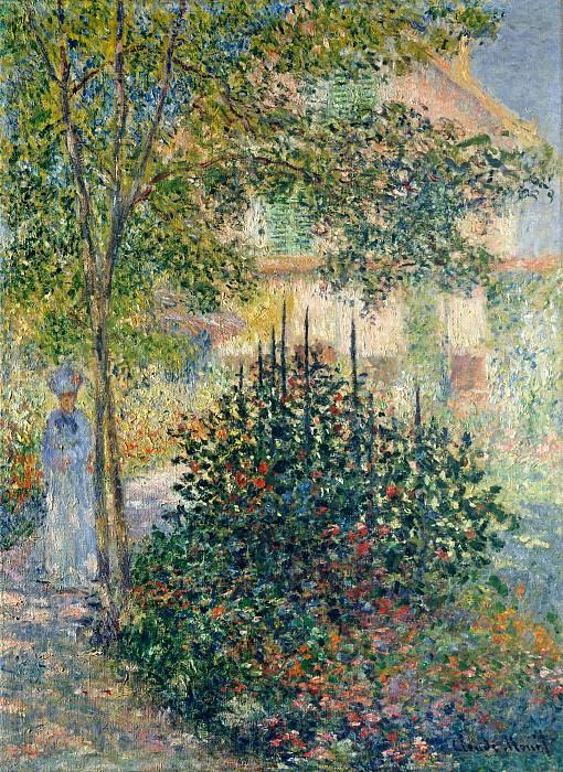 Camille Monet in the Garden at the House in Argenteuil. Claude Oscar Monet
