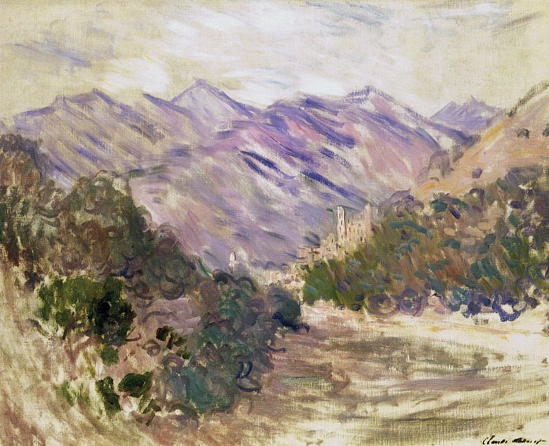 The Valley of the Nervia with Dolceacqua. Claude Oscar Monet