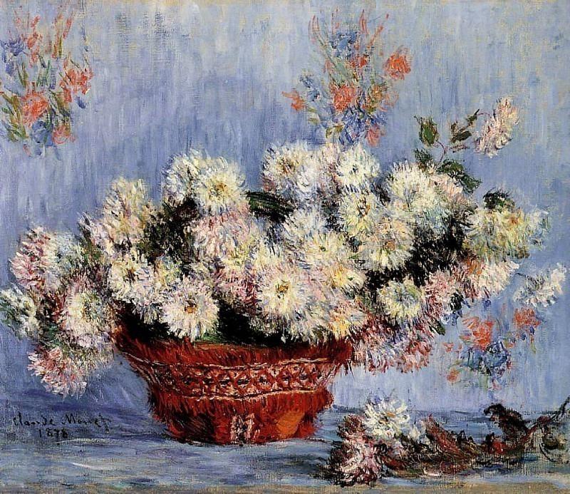 Chrysanthemums. Claude Oscar Monet
