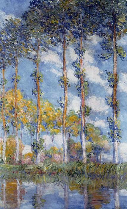Poplars. Claude Oscar Monet