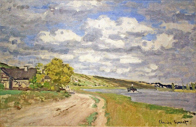 The Estuary of the Siene. Клод Оскар Моне