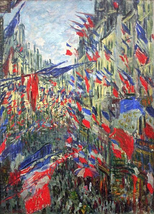 The Rue Montargueil with Flags. Claude Oscar Monet