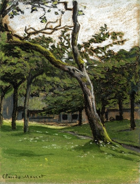 Norman Farm through the Trees. Claude Oscar Monet