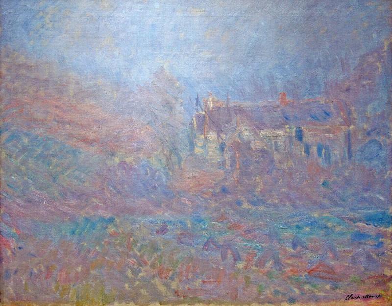 Houses at Falaise in the Fog. Claude Oscar Monet