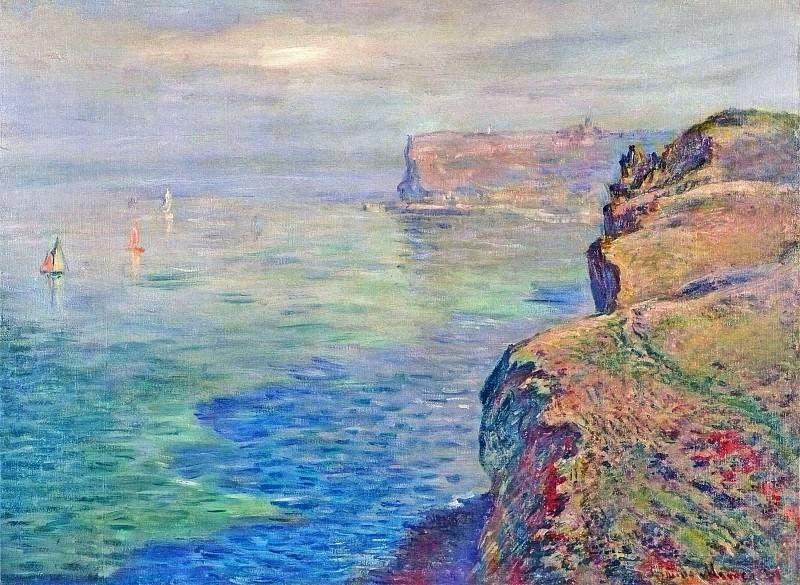 Cliff at Grainval near Fecamp. Claude Oscar Monet