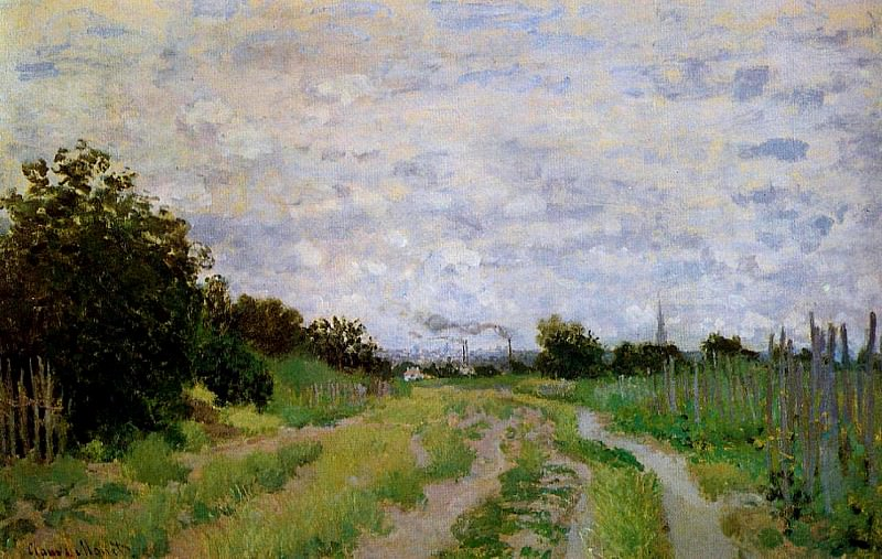Lane in the Vineyards at Argenteuil. Claude Oscar Monet