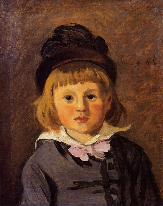 Portrait of Jean Monet Wearing a Hat with a Pompom. Claude Oscar Monet