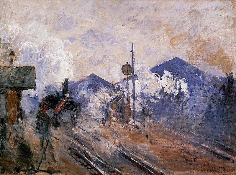 Saint-Lazare Station, Track Coming out. Claude Oscar Monet