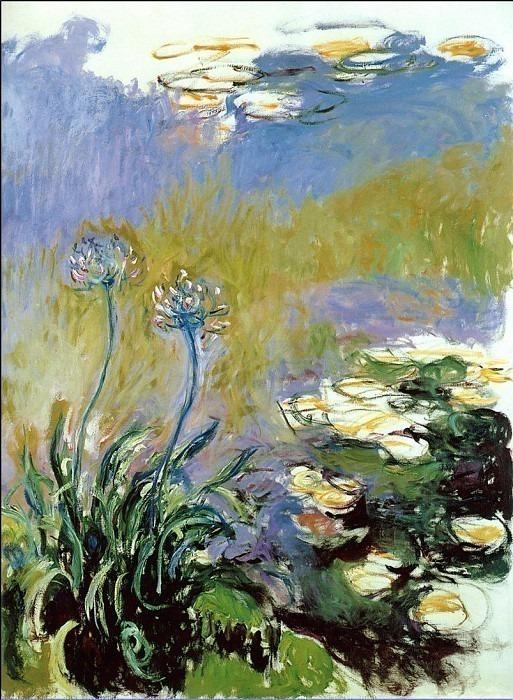 Agapanthus. Claude Oscar Monet